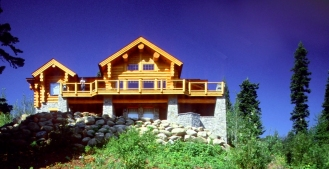 Majestic Hand Crafted Log Home
